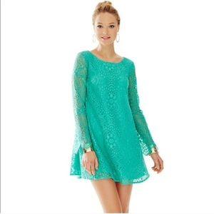 Lilly Pulitzer Colette Tunic Dress Green Sunburst
